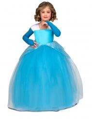 Bal prinsesse kjole  blå - pige