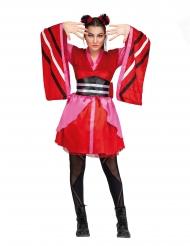 Traditionel japansk kostume - kvinde