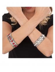 Middelalder dronning armbånd rød - voksen