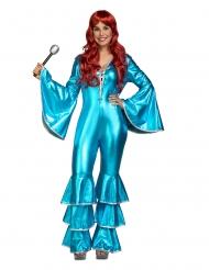 Saturday Night disko kostume blå - kvinde