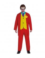 Skør klovn kostume rød - voksen