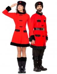 Par kostume russisk soldater  - voksen