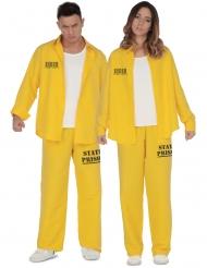 par kostume fanger gul - voksen
