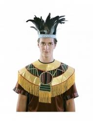 Azteker krone med fjer - voksen