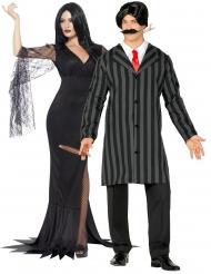 Par kostume gotisk familie - voksen