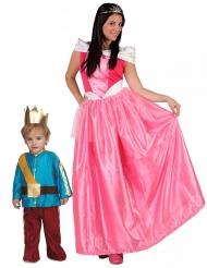 Par kostume prinsesse med prins - mor og søn