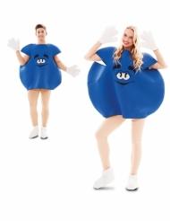 Blå slik kostume - voksen