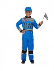 Formel 1 racerkører blå - dreng