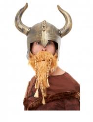 Viking hjelm med skæg