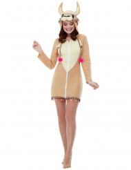 Lama kjole med hætte - kvinde
