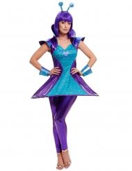 Blå og lilla alin kostume - kvinde