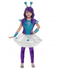 Blå og lilla rumvæsen kostume - pige