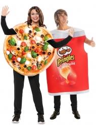 Par kostume Pringles og Pizza - voksen