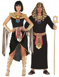 Par kostume egyptisk sort - voksen