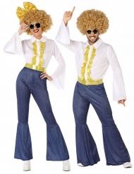 Par kostume disko jeans - voksen