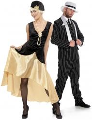 Par kostume charleston og gangster - voksen