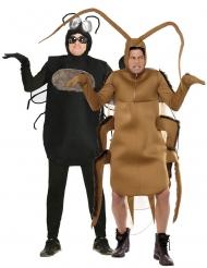 Par kostume flue og kakerlak