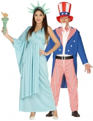 Par kostume frihudsgudinde og onkel sam