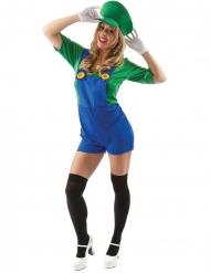 Grønt blikkenslager kostume  - kvinde