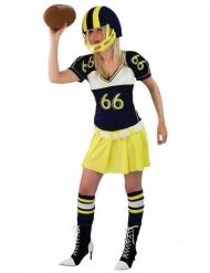 Amerikansk fodboldspiller kostume gul - kvinde