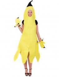Skrældet banan kostume - kvinde