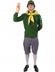 Grønt spejder kostume - mand