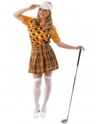 Orange golfspiller kostume - kvinde
