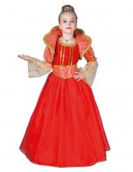 Rød dronning kostume - pige