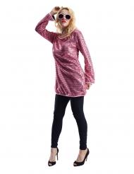 Tunika med lyserøde palietter - kvinde