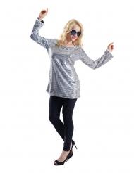 Tunika med sølvfarvede palietter - kvinde