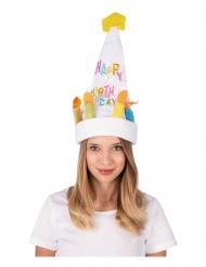 Happy Birthday dansende hat med lyd - voksen
