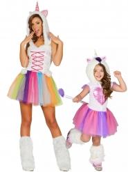 Par kostume enhjørning - mor og datter