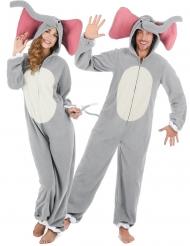 Par kostume elefant grå - voksen