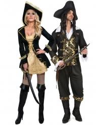 Par kostume barok pirat - voksen