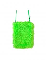 Plysstaske grøn fluo
