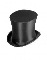 Luksus høj hat i satin - voksen