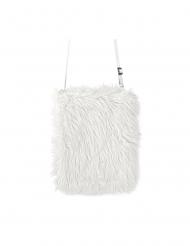 Plysstof taske hvid