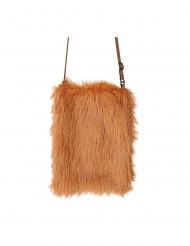 Plysstof taske brun