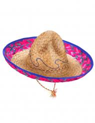 Mexicansk sombrero med lyserød og blå skygge mand