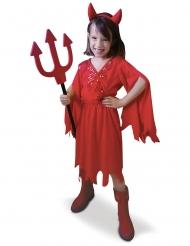 Rød djævleinde kostume pige