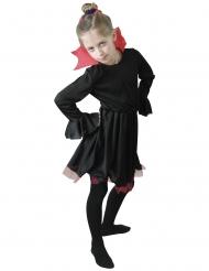Rødkravet vampyr kostume sort - pige