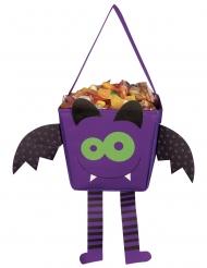 Halloween sæk glad flagermus med arme og ben 17 cm