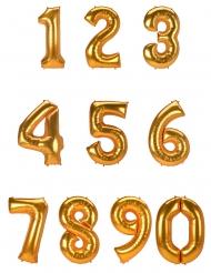 Aluminium tal ballon guld 134 cm