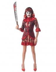 Den gruopvækkende klovn kostume - kvinde
