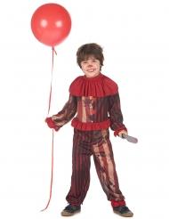 Gruopvækkende klovne kostume rød - dreng