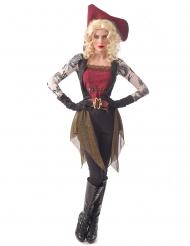 Tatoveret piratkostume - kvinde