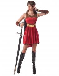 Middelalder kriger kostume rød - kvinde