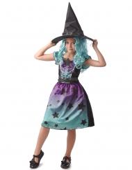 Hekse kostume blå/lilla - piga