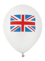 8 Latex balloner Storbritannien 23 cm