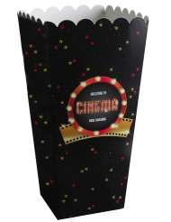 8 Popcorn bokse i karton Hollywood 6 x 17 cm